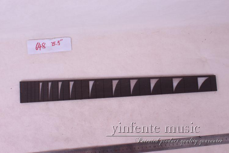1 pcs25.5 guitar  ebony  wood Guitar Fretboard Fingerboard Fretless Guitar parts star  INlaid #25<br>