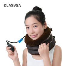 Inflatable Cervical Traction Neck Pillow Massager And Relaxation Relieve Fatigue Tension Neck Massager Massage & Relaxation(China)