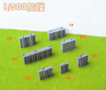 DIY model building kits ABS plastic Residential building factory office school HO train kits(China)