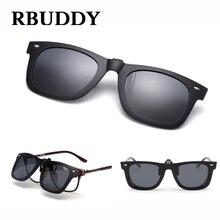 RBUDDY Clip Sunglasses Polarized Lens Men Women Brand Designer High quality TR90 Mirrored Night Vision Clip Myopia Glasses
