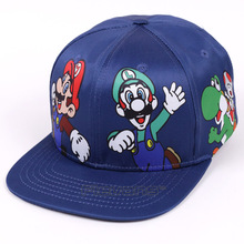 Super Mario Bros Mario Luigi Yoshi Snapback Baseball Hip Hop Caps Cartoon Casual Summer Sun Hats Couple Caps Women Men(China)