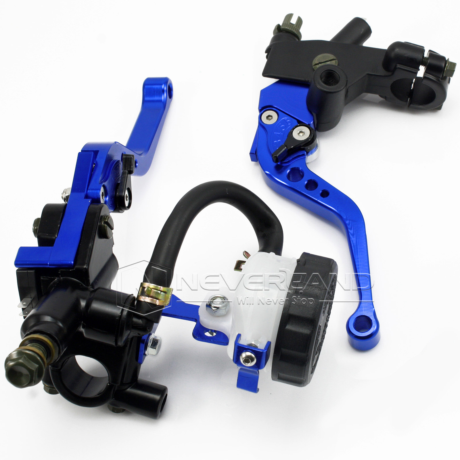 Universal CNC 7/8 22mm Blue Motorcycle Brake Clutch Levers Master Cylinder Reservoir Set For Honda Suzuki Kawasaki Yamaha D10<br><br>Aliexpress