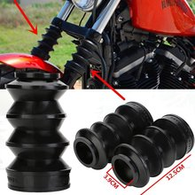 39mm Black Motorcycle Fork Gaiters Gators Boots Black Shock Boot For Harley FX XL 883