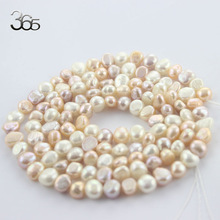 Free Shipping 6-8mm Long Strand DIY Necklace Jewelry Making (White Pink Purple) Natural Freshwater Pearl Beads Strand 34""