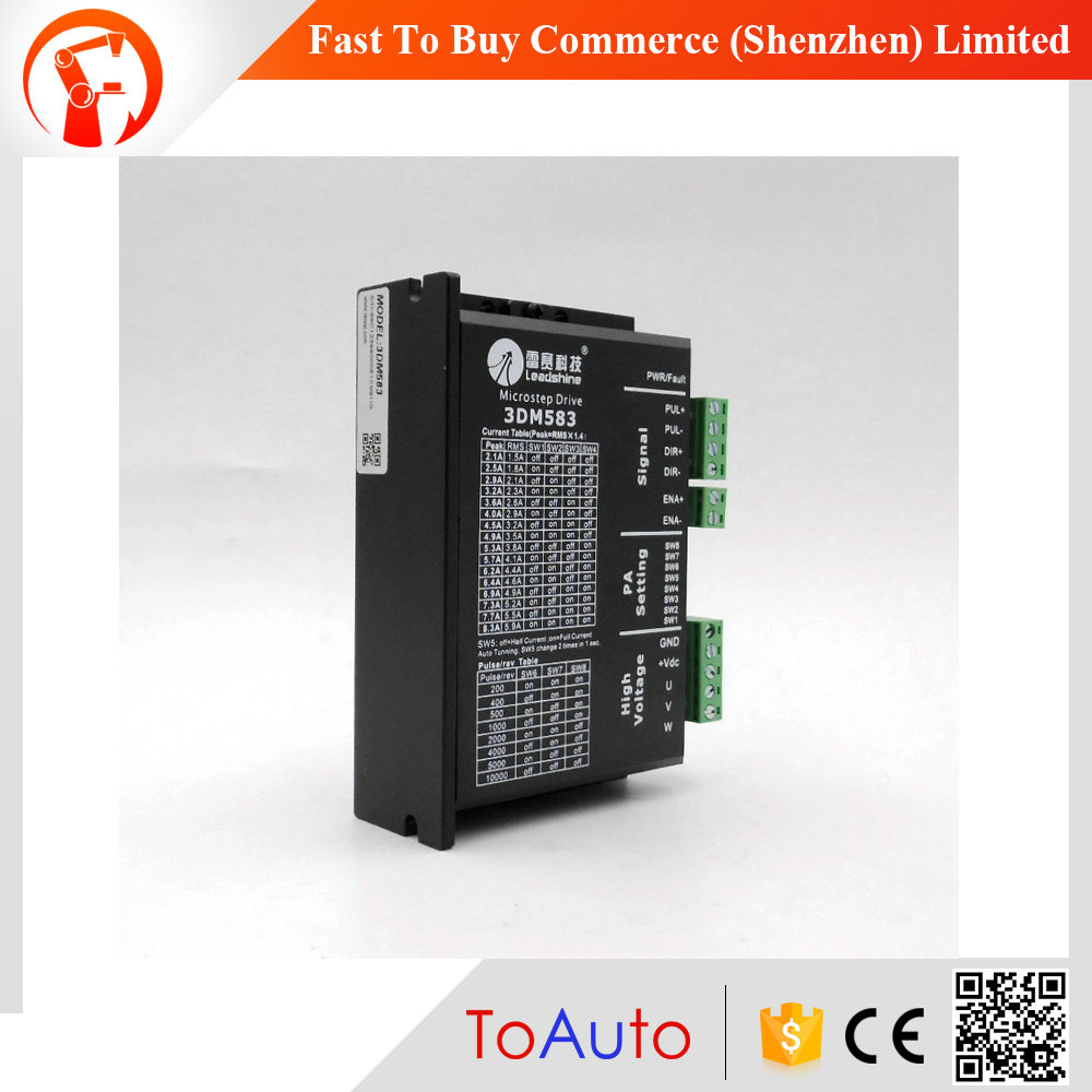 CNC Stepper Drive 3ph 2.1~8.3A 24~40VDC Matching Nema23 34 Motor 3DM583 Leadshine<br><br>Aliexpress