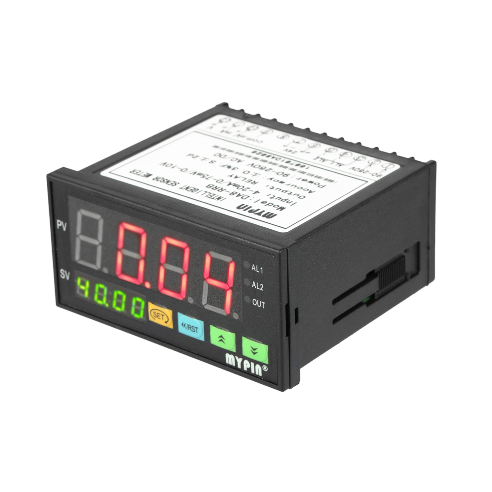 Digital Sensor Meter Multi-functional Intelligent Pressure Transmitters LED Display 0-75mV/4-20mA/0-10V 2 Relay Alarm Output<br>