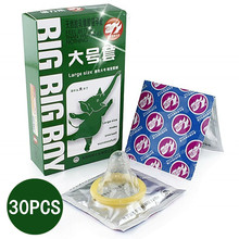30Pcs Large Size Big XXL Condom For Men Smooth Women Vaginal Adult Game Sex Toy Sex Products For Man(China)