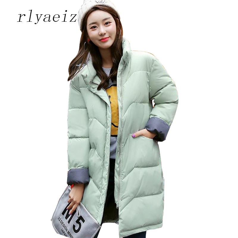 RLYAEIZ Plus Size Winter Jacket Women 2017 Fashion Winter Coat Women Middle Long Thicken Coats Outerwear Female Jackets OvercoatÎäåæäà è àêñåññóàðû<br><br>