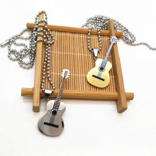 Fashion Jewelry Accessories 316L Stainless Steel High Level Technology Guitar Necklace Men Female Models Couple Gifts