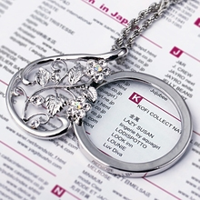 Latest Trend Flower Rose Design bijoux femme Pendent for Girls Brilliant quality Fashion accessories Magnifiers Glass Necklace