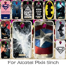 Soft TPU Silicone Phone Case For Alcatel OneTouch Pixi 4 5.0'' OT-5010 5010D 3G Version Cover America Captain Batman Shell
