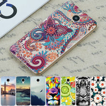 Silicon Phone Case for MEIZU M3S Mini M3 Note M2 Mini M2 Note M3 S Mini Wolf Flowers Fruit Ocean Painted Protective Shell(China)