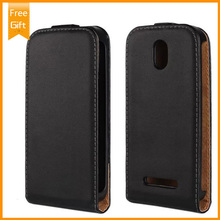 Fashion Vertical Flip Genuine Luxury Wallet Style Case for HTC Desire 500 Phone Bag Magnetic Cover Pouch Black+Gift