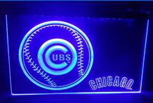 b-128 Chicago Cubs Baseball Gifts beer bar pub club 3d signs LED Neon Light Sign home decor shop crafts