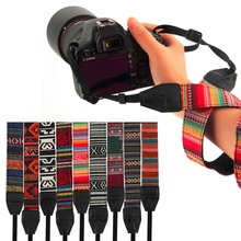 Durable 3 in 1 Camera Straps Vintage Hippie Style Canvas Shoulder Neck Durable Cotton for Nikon Pentax Sony Canon DSLR Camera