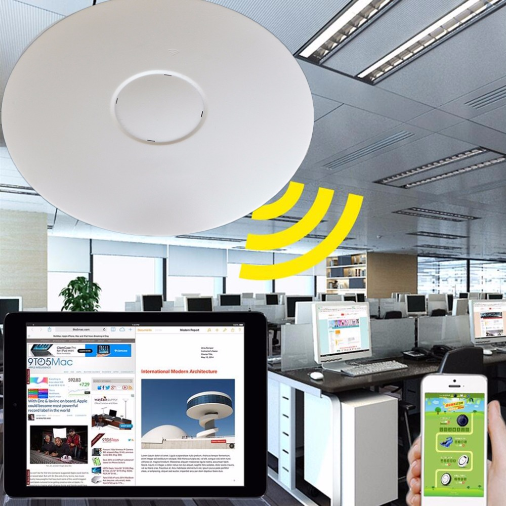 2016 new Ceiling-Mount 300 Mbps Wireless Access Point PoE Access White KF-APCP20N300M<br>