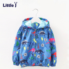 Clearance Dinosaurs Pattern Hooded Coat Autumn Winter Jacket Girls Boys Zipper Tops Children Windbreaker Outerwear Clothes 2-6T(China)