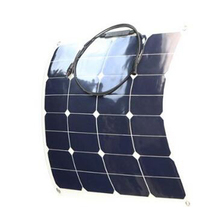 10pcs 50W/12V Semi flexible solar panels light weight 3mm thickness marine solar panels