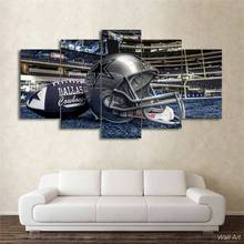 Hd Printed 5 Piece Canvas Art Dallas Cowboys Helmet Painting Football Game Wall Pictures For Living Room Free Shipping -92636-YP