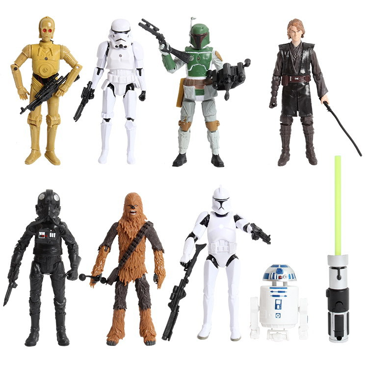 8 Psc/Set Kids Disney Plastic Toys Star Wars Action Figures Brinquedos Gifts Baby Boys for Children Birthday Gifts<br><br>Aliexpress