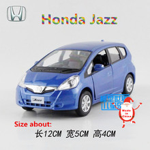 RMZCity/1:36 Scale Diecast toy Model/Simulation:Honda Jazz/Educational Pull Back Car for children's gift or collection/Limited