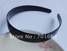 "10PCS 25mm 1.0"" Half Round Black Plain Plastic Hair Headbands without teeth as DIY accessories Free shipping"