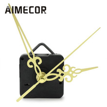 Top High quality  Simple Gold Hands DIY Quartz Wall Clock Movement Mechanism Replacement  drop shipping Oct18