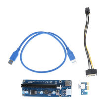 10pcs/lot USB 3.0 PCI-E Express 1x 4x 8x 16x Extender Riser Card Motherboard with SATA to 6Pin Cable Powerful for Bitcoin Miner