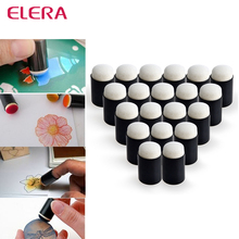 ELERA 10pcs/lot Finger Daubers Foam for Applying Ink Chalk Inking Staining Altering Any Craft Project Finger Painting Drawing
