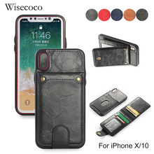 Buy Retro Wallet Leather Case iPhone X/10 Wisecoco Card Holder Cover Luxury 2 1 Cases Back Protector phonex Coque Funda for $3.90 in AliExpress store