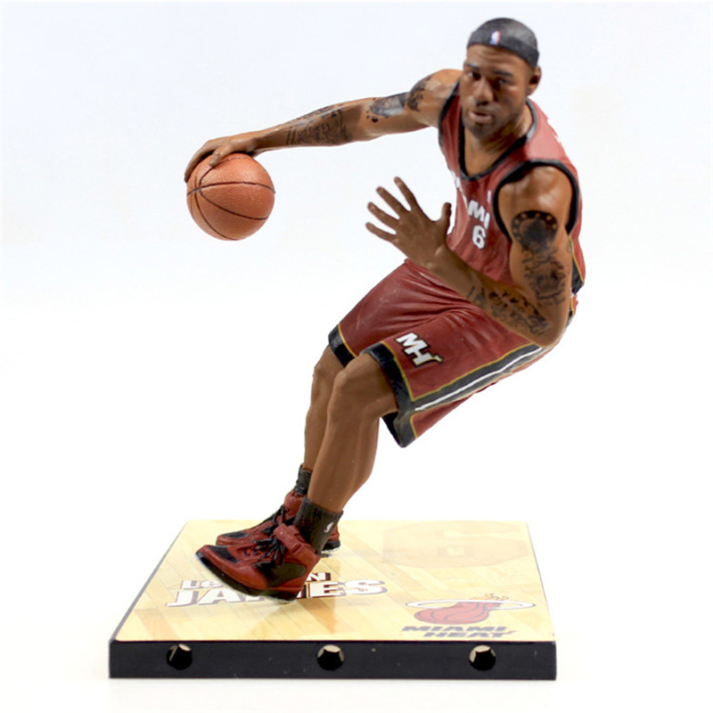 New arrive 29cm NBA star  champion Cavaliers James Action Figure Model Toys Collections Dolls Get a free  Stand<br>