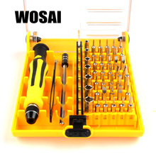 WOSAI 45in1 Multi-purpose Precision Magnetic Hand Screwdriver Set Household Hand Tool Set for PC Phone Repair Kit Iphone(China)
