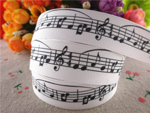 "New arrival 7/8"" 22mm musical note printed grosgrain ribbons hair accessories 10 yards 14122324"