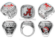 High Quality 2015 Alabama Crimson Tide Football National Championship rings for fans best gifts size 11(China)