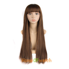 Casual Fashion Long Straight Neat Bangs Hair Wigs (NWG0LO60709)