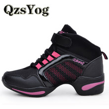 Qzsyog baile Zapatos para mujeres transpirable danza sneakers deportes Jazz  hip hop Zapatos señoras Air Mesh plataforma Salón da. 7eee9e6ae2d