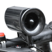 New Loudly 6 sound loop Black Bicycle Electronic Bell Alarm Siren Horn Loud Speaker free shipping