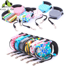 King-S Pet Retractable Leash 5 Meters Flexible Dog Puppy Cat Lead Leashes Sport Collars New Automatic Traction Rope Pet Products(China)