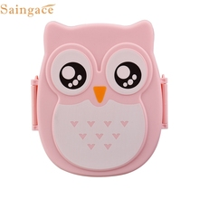 My House 2016 Cute New Owl Lunch Box Food Container Storage Box Portable Bento Box Free Shipping Sep1