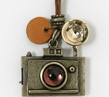 Fashion vintage camera necklace long necklaces women charm pendants & Necklaces woman jewelry big discount hot(China)