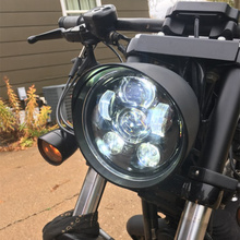 "Black 5.75"" HID LED Headlight High Low Beam 5 3/4"" Front Driving Head Lights Headlamp For Harley Led Motorcycle Daymakers 5.75"""