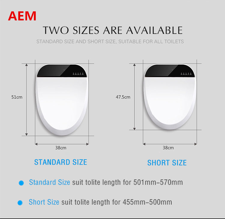 Smart Heated Toilet Seat WC Sitz Intelligent Water Closet Automatic Wash Dry Toilet Lid Cover Elongated Children Training Sit 4