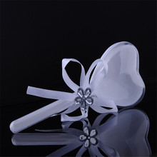 50pcs/lot White Heart shaped Candy boxes For Guests Party Decoration Wedding Supplies Wedding Favor Gift Boxes
