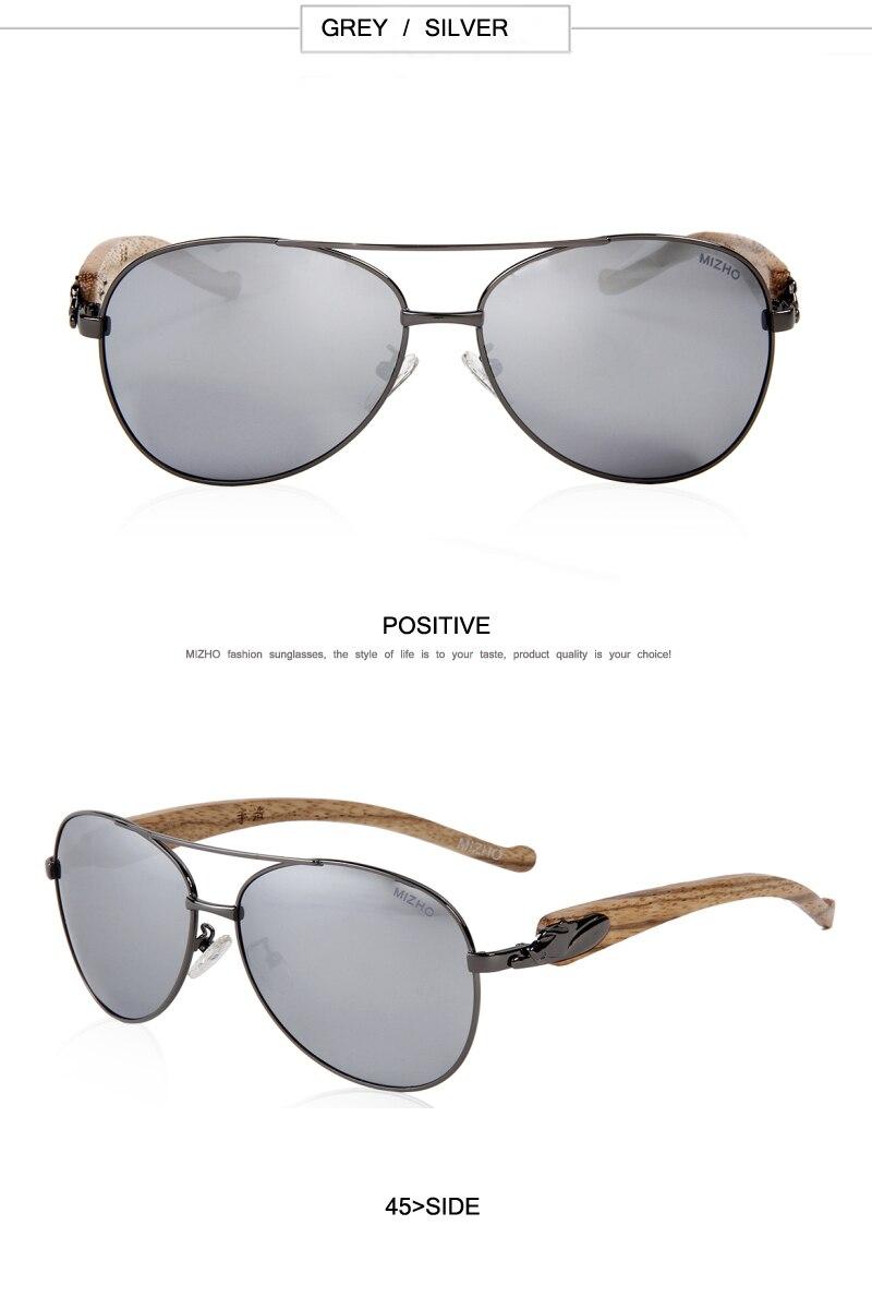Leopard Shape Design HD Visual Protection Polarized Wood Unisex Sunglass