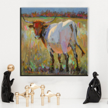 xh2527 china home decor wholesale cow abstract paintings modern art paintings Canvas Oil Painting Wall art for modern house