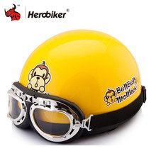 2017 New Vintage Motorcycle Motorbike Vespa Open Face Half Motor Scooter Helmets & Visor & Goggles Electric Helmet(China)