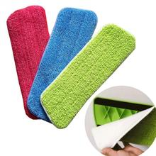 New Microfiber Pads Spray Water Spraying Flat Dust Mop Floor Cleaning Replacement 42*14cm