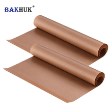 BAKHUK 2pcs 40*60 cm Baking Mat, High Temperature Resistant Teflon Sheet, Heat-Resistant Non-stick Pad, Oil-proof Paper for BBQ(China)