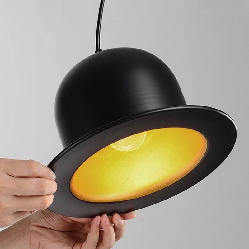 Attractive Pendant Lamps creative Pendant Lights England Hat Lamp Coffeeshop Bar Bedroom Lights E27 Indoor Lights<br>