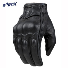 2015 Retro Pursuit Perforated Real Leather Motorcycle Gloves Moto Waterproof Gloves Motorcycle Protective Gears Motocross Glove